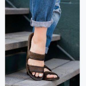 Pali Hawaii Dark Brown Water Proof Garden Sandals